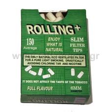 Φίλτρο Τσιγάρου Rolling 6mm 150τμχ.