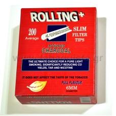 Φίλτρο Τσιγάρου Rolling 6mm με Άνθρακα 200τμχ.