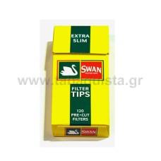 Φίλτρο Τσιγάρου Swan 5mm Extra Slim Κίτρινο