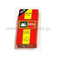 Φίλτρο Τσιγάρου Swan 6mm Slim Κόκκινο